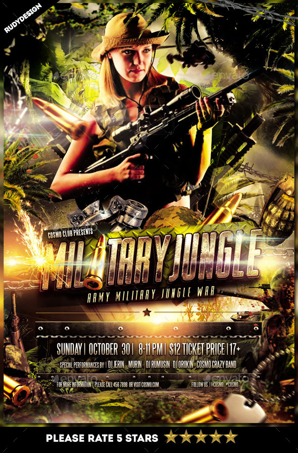 GraphicRiver Army Military Jungle Theme Flyer Template 9020365