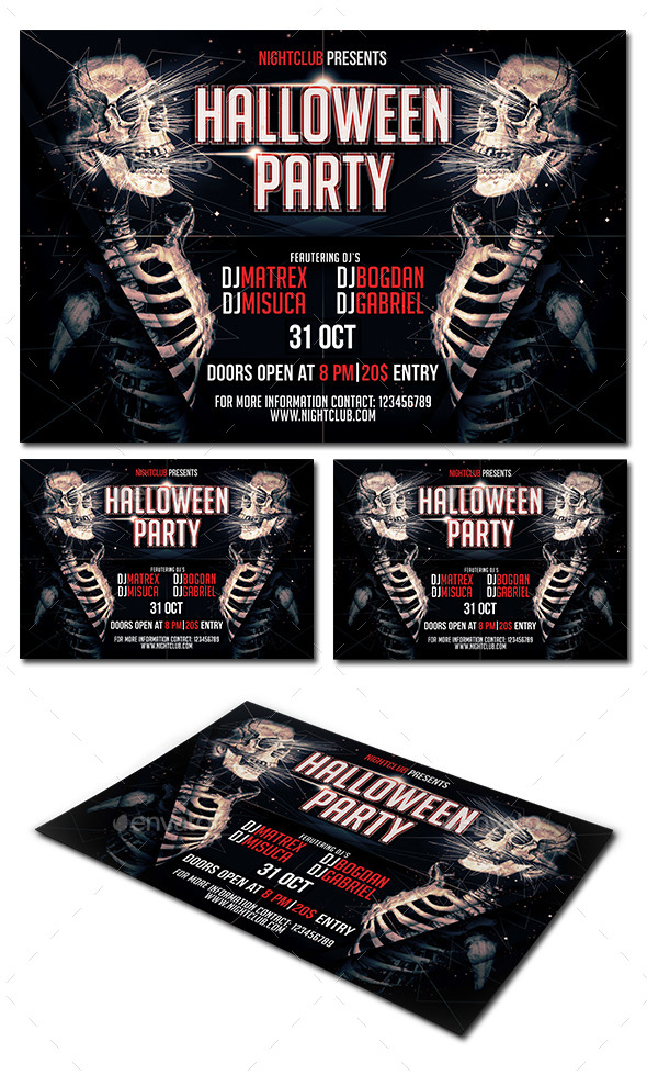 GraphicRiver Halloween Party Flyer 9091546