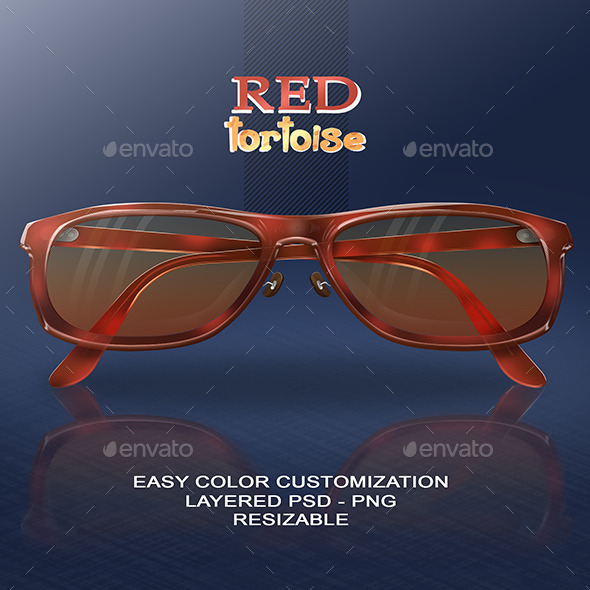 GraphicRiver Red Tortoise Glasses 9091828