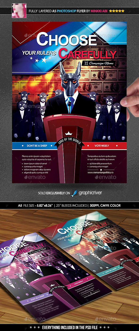 GraphicRiver Election Awareness Poster Flyer 9091853
