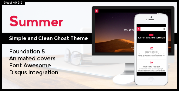 Summer: Simple and Clean Ghost Theme
