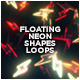 Floating Neon Shapes Loops (10-Pack) - VideoHive Item for Sale