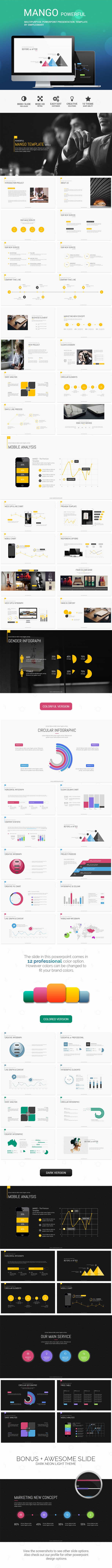 GraphicRiver ManGo Creative & Multipurpose Presentation Templ 9092261