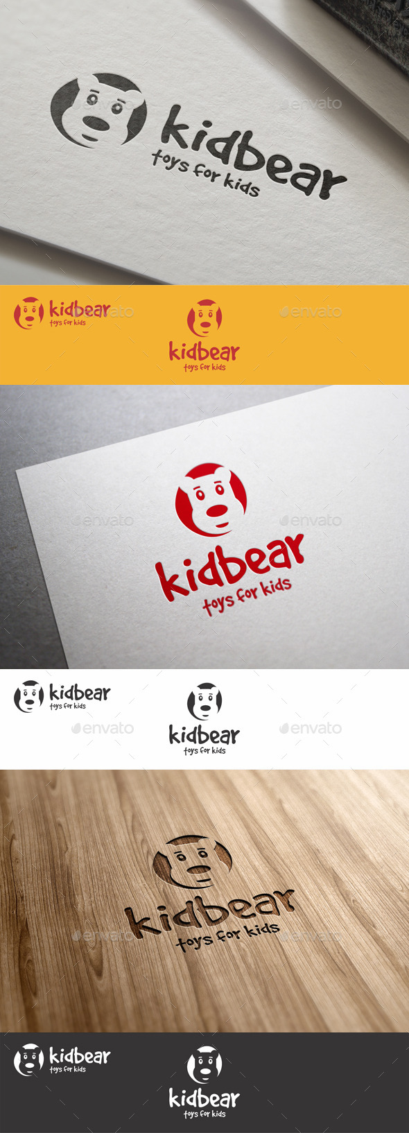 GraphicRiver Funny Kid Bear Logo 9092262