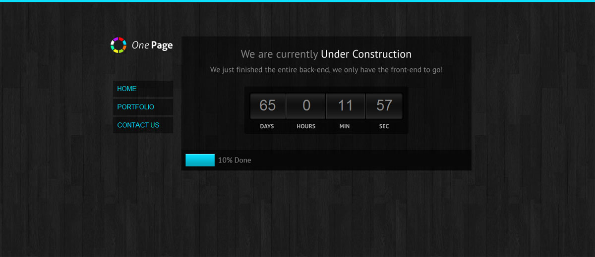 OnePage Under Construction 7 in1