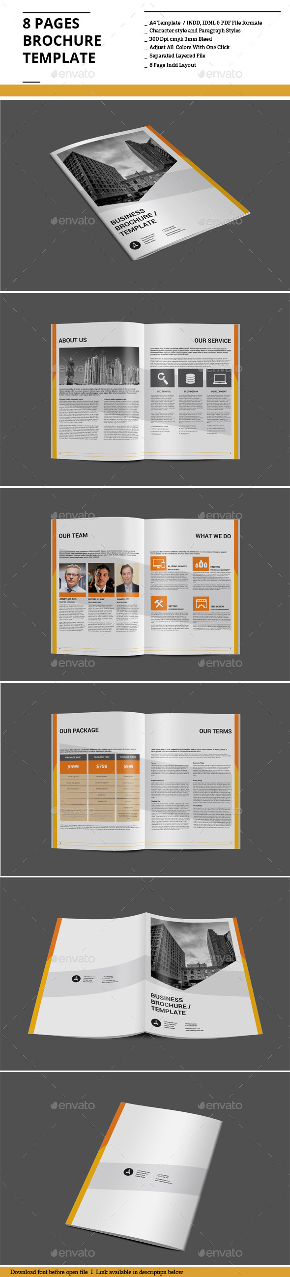GraphicRiver 8 Pages Brochure Template 9027394