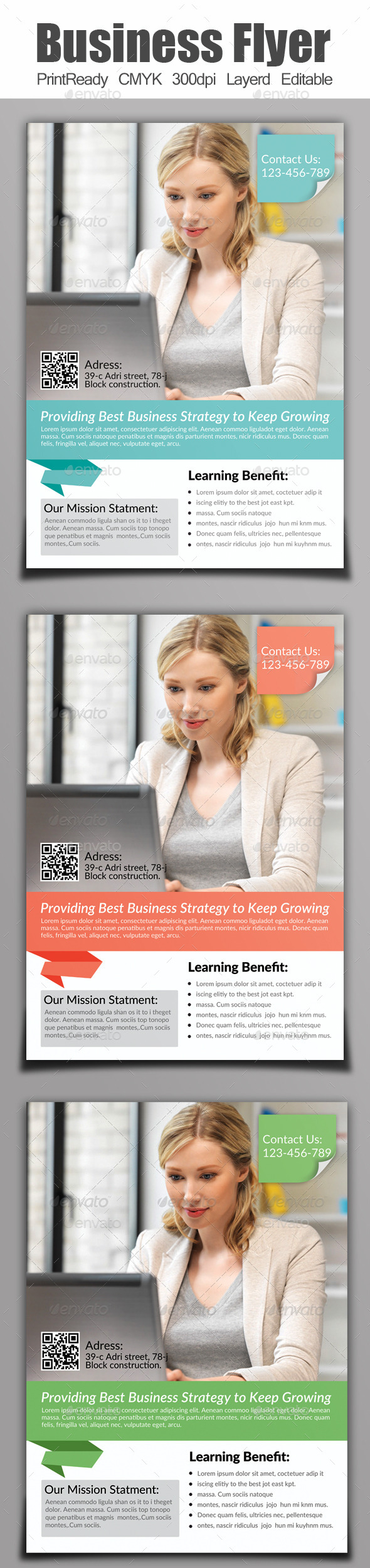 GraphicRiver A4 Business Flyer 9092514
