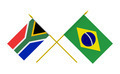 Flags of Brazil and South Africa, 3d Render, Isolated - PhotoDune Item for Sale