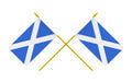Two Crossed Flags of Scotland, 3d Render, Isolated on white - PhotoDune Item for Sale