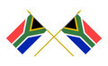 Two Crossed Flags of South Africa, 3d Render, Isolated on white - PhotoDune Item for Sale