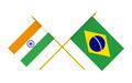 Flags of Brazil and India, 3d Render, Isolated - PhotoDune Item for Sale