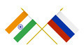 Flags of India and Russia, 3d Render, Isolated - PhotoDune Item for Sale
