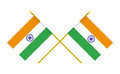 Two Crossed Flags of India, 3d Render, Isolated on White - PhotoDune Item for Sale