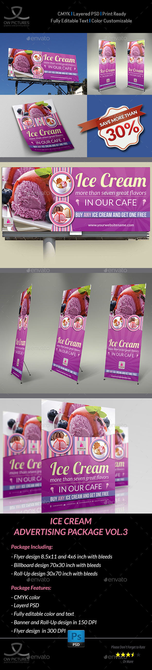GraphicRiver Ice Cream Advertising Package Vol.2 9093334