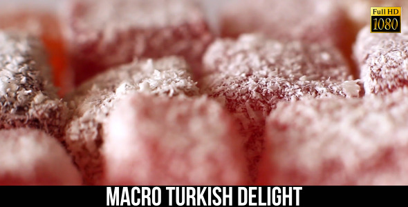 Macro Turkish Delight 4