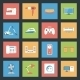 Home Furniture and Appliances Flat Icons Set - GraphicRiver Item for Sale