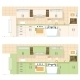 Kitchen Overlooking the Front, in a Flat Layout Design - GraphicRiver Item for Sale