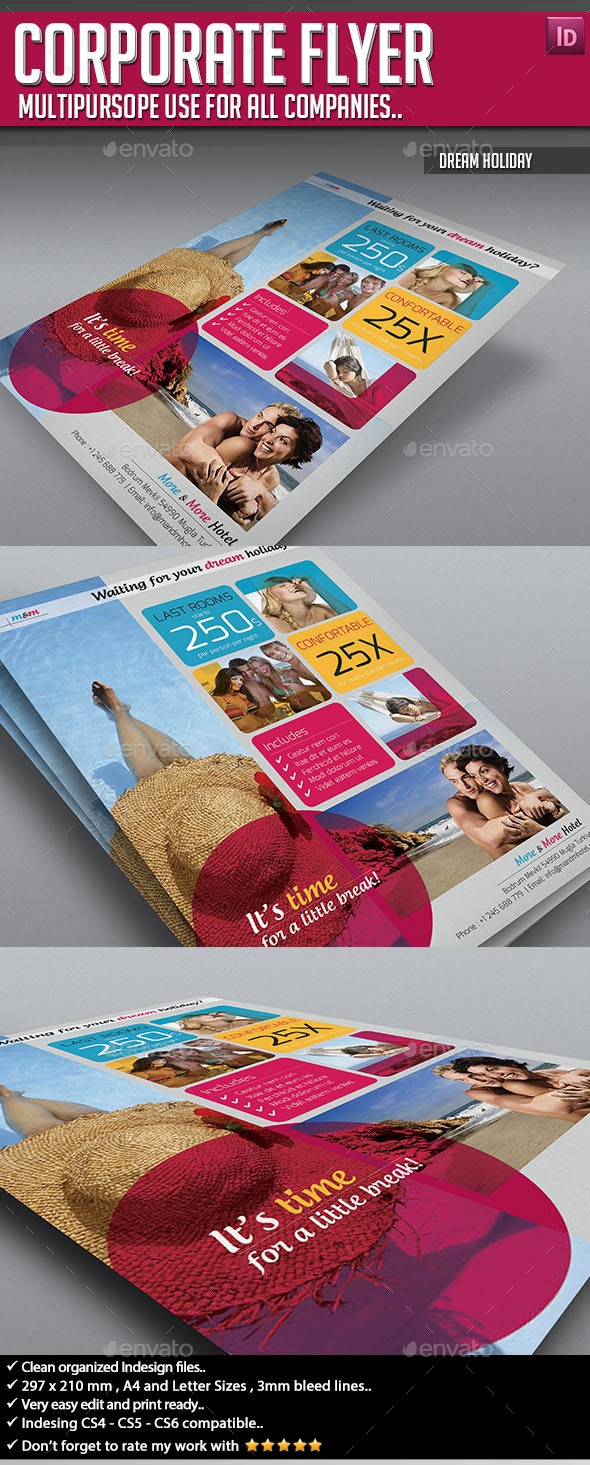 GraphicRiver Corporate Flyer Dream Holiday 9094337
