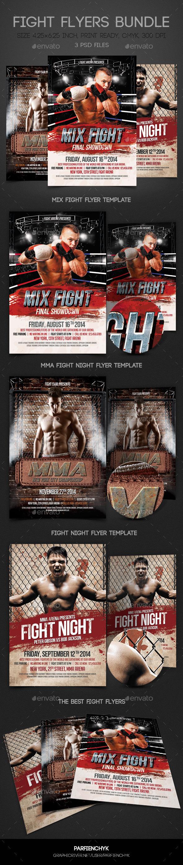 GraphicRiver Fight Flyers Bundle 9094345