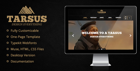 ThemeForest Tarsus Creative One Page Muse Template 9014656