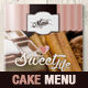 Vintage Cake Menu Brochure / Bi-fold Template - GraphicRiver Item for Sale