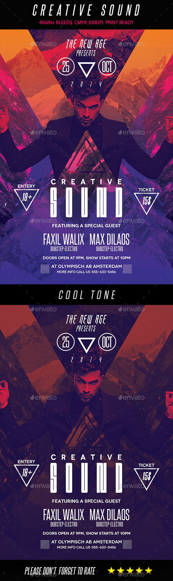GraphicRiver Minimal Flyer Creative Sound 9094991
