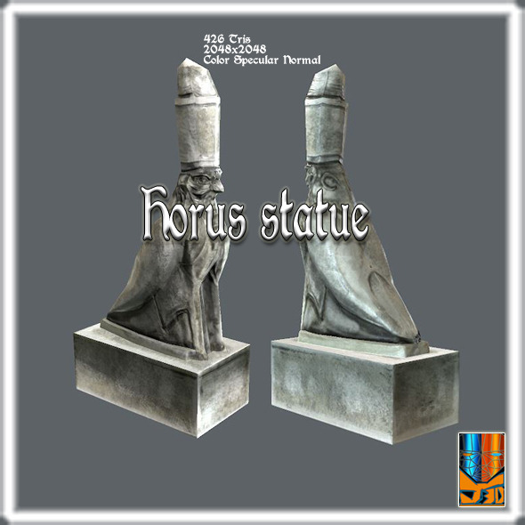 Statue of Horus - 3DOcean Item for Sale