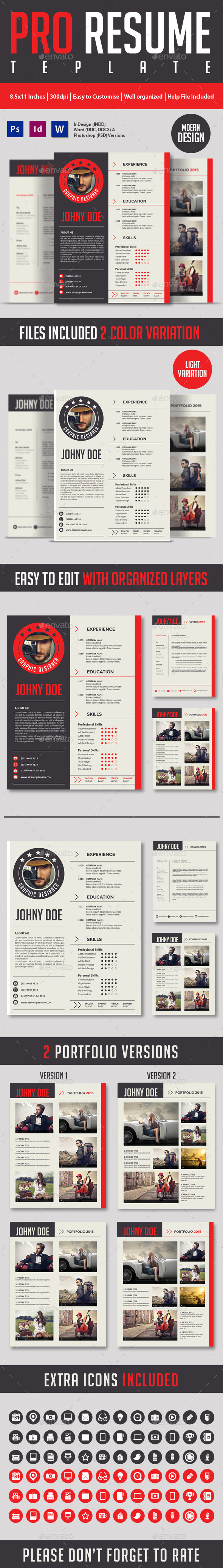 GraphicRiver Modern And Profesional Resume Cv 9072023