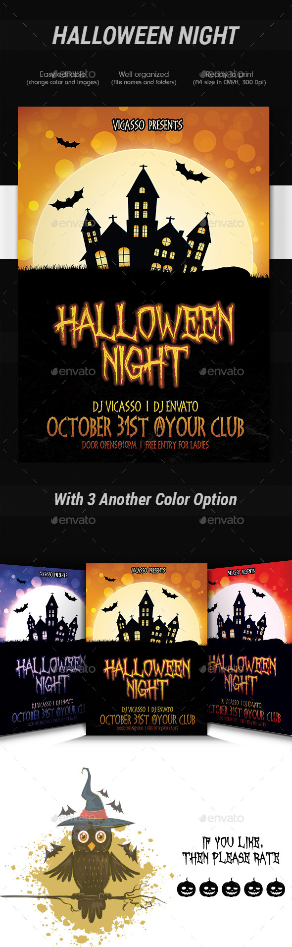 GraphicRiver Halloween Night 9095097