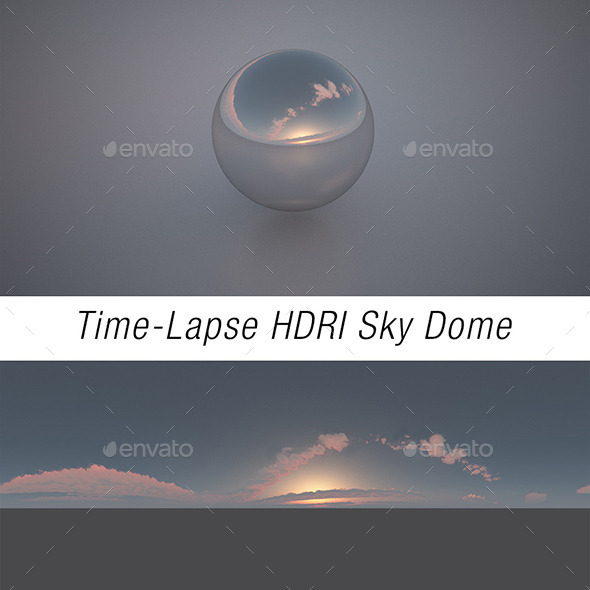 Time-Lapse HDRI Sky Dome Sunset - 3DOcean Item for Sale