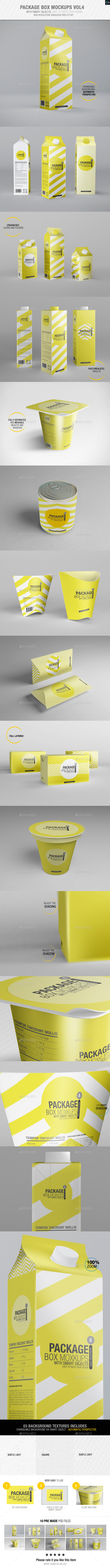 GraphicRiver Package Box Mockups Vol4 9095521