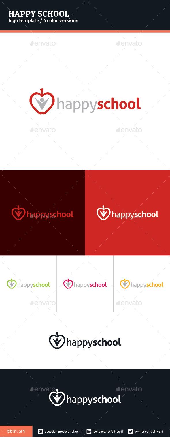 Happy School Logo Template - Symbols Logo Templates