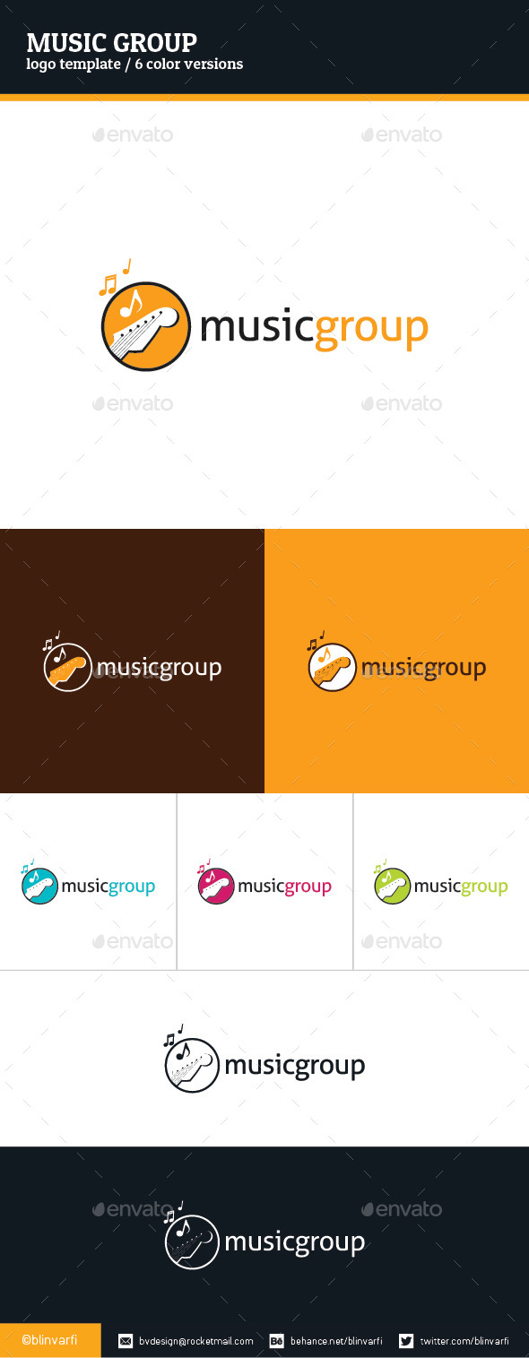 Music Group Logo Template - Symbols Logo Templates