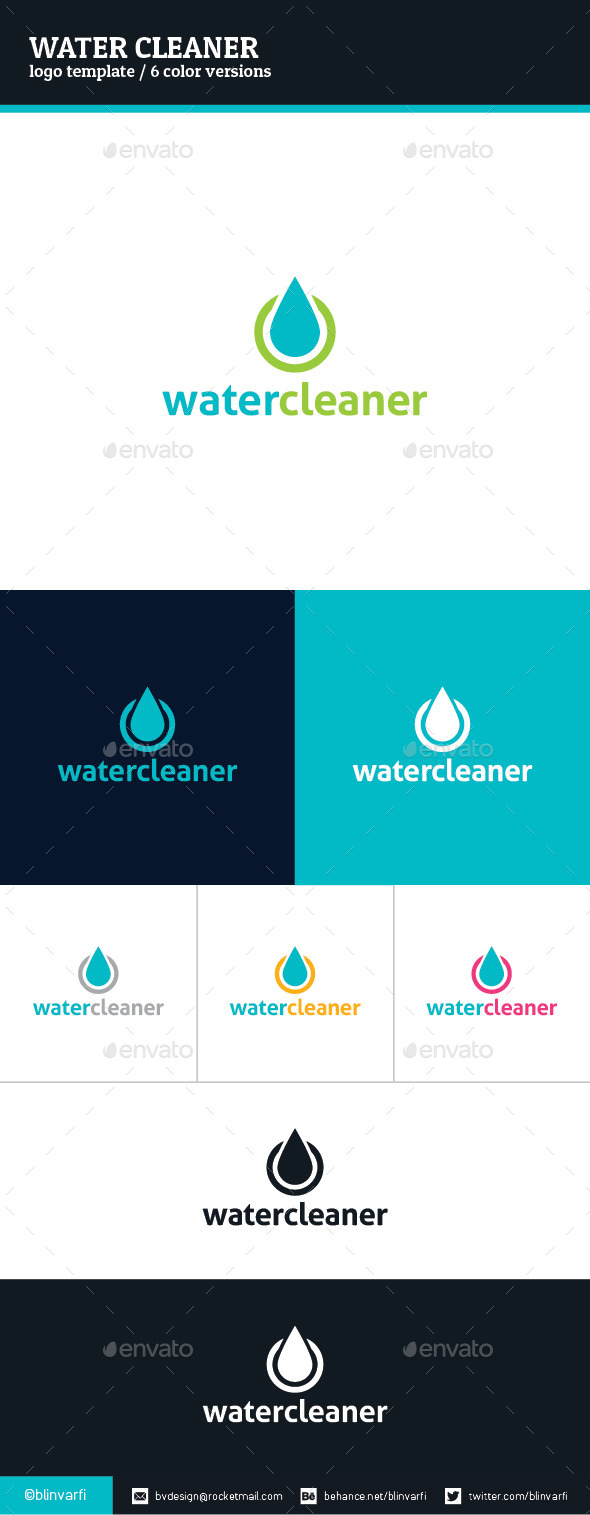 Water Cleaner Logo Template - Symbols Logo Templates