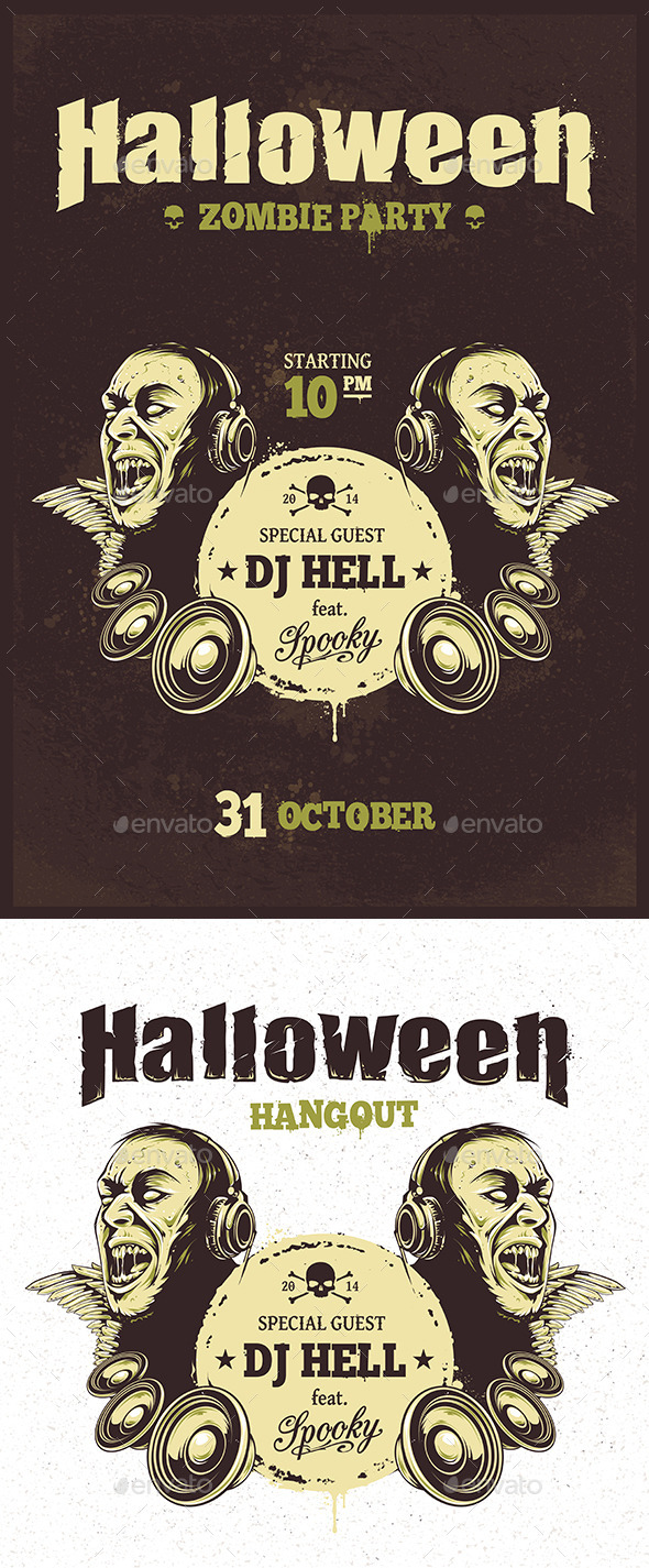 GraphicRiver Halloween Party Poster 9087990