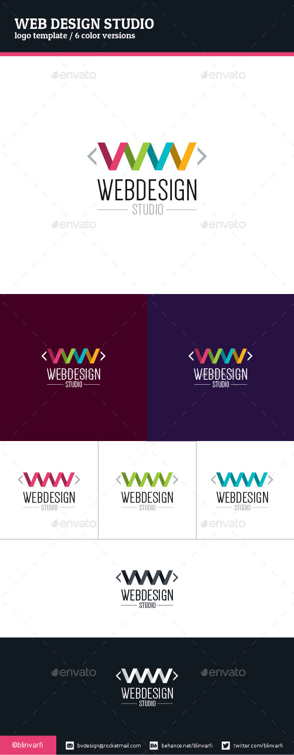 GraphicRiver Web Design Studio Logo Template 9096474