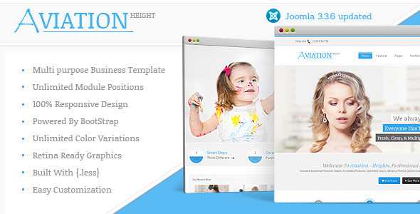 Aviation - Responsive Multi-Purpose Joomla Theme