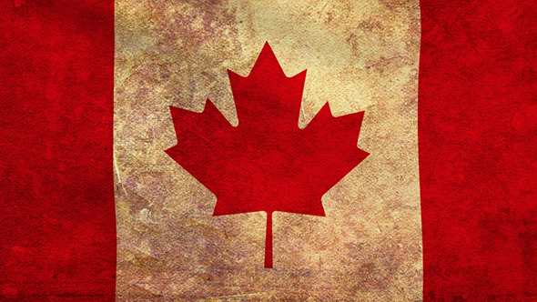 Canada Flag 2 Pack Grunge and Retro