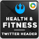 Health & Fitness Twitter Headers - GraphicRiver Item for Sale