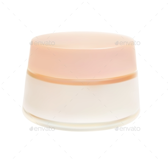 Face Cream Isolated on White Background Vector Ill