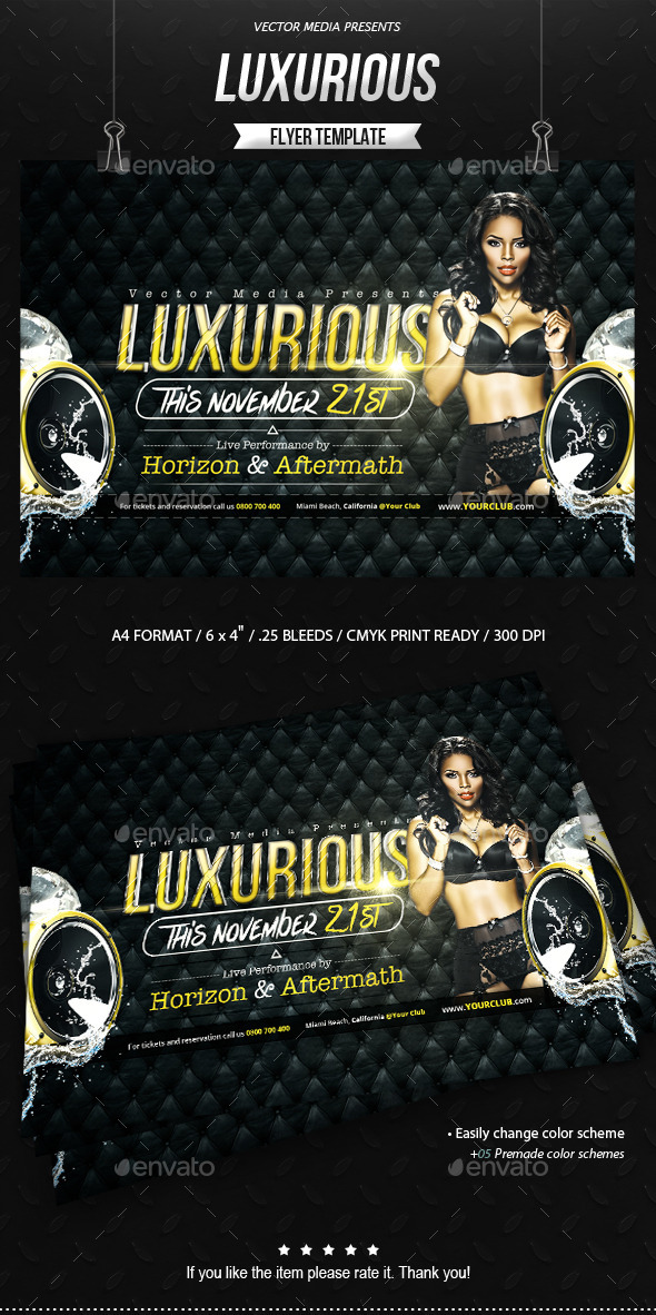 GraphicRiver Luxurious Flyer 9096956