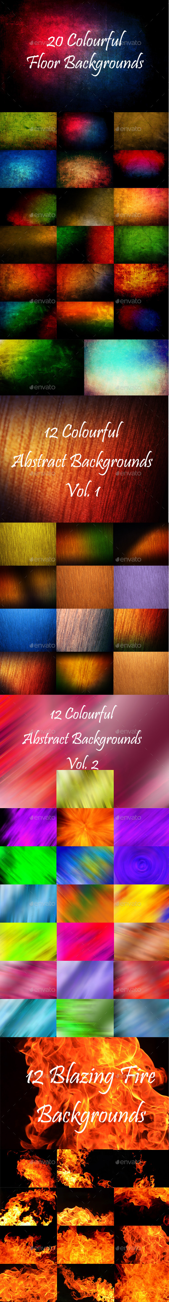 GraphicRiver 64 Abstract Backgrounds Bundle 9096983
