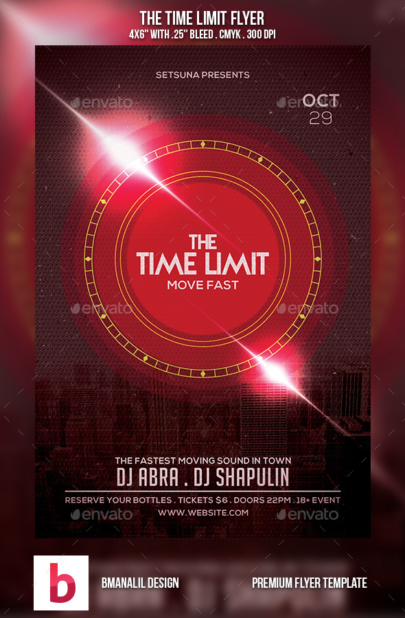 GraphicRiver The Time Limit Flyer 9089644