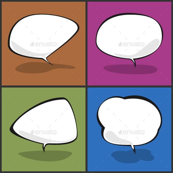 GraphicRiver Set of Speech Bubbles Vector Illustration 9097134