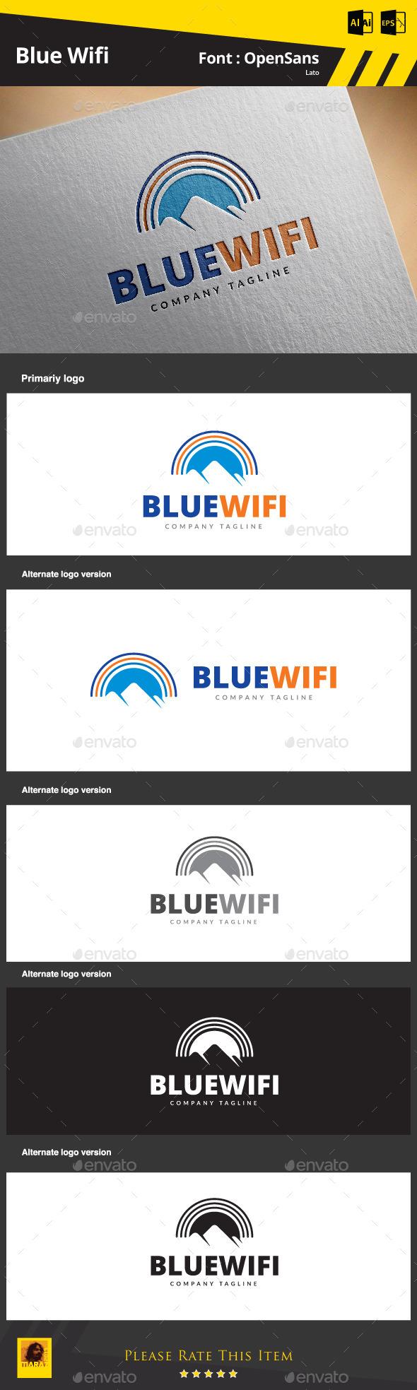 GraphicRiver Blue Wifi 9097332