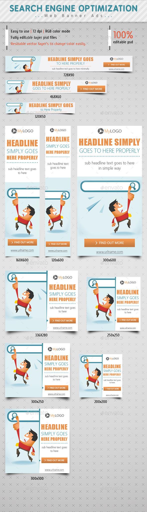 GraphicRiver Search Engine Optimization Web Ads 9097806