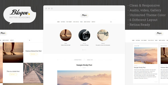 ThemeForest Blogex Minimal Responsive Wordpress Blog Theme 9067107