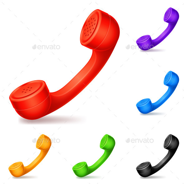 GraphicRiver Colored Handsets 9098611