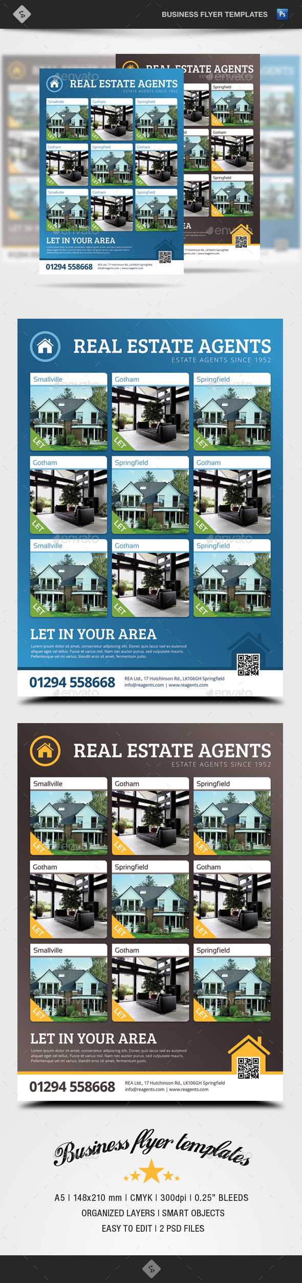 GraphicRiver Real Estate Flyer Template A5 9098774