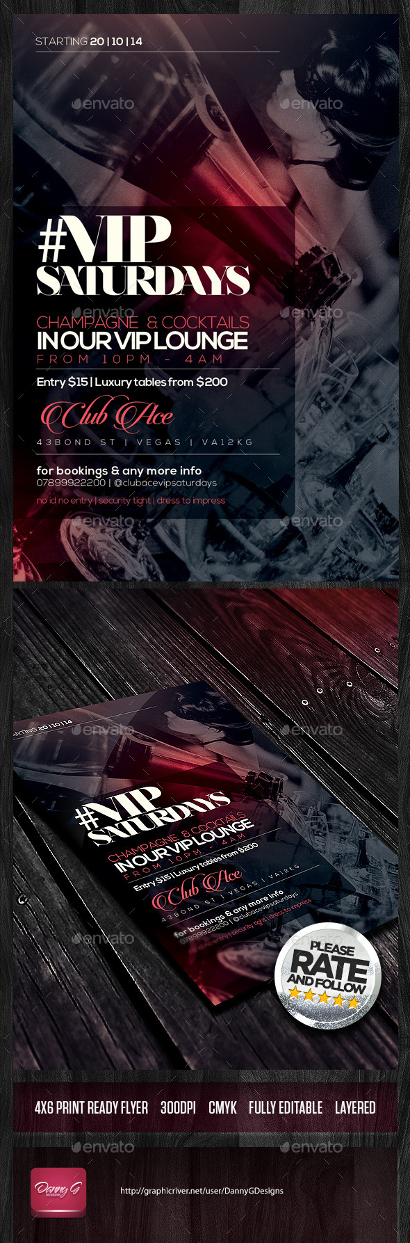 GraphicRiver #VIP Saturdays Flyer Template PSD 8972067